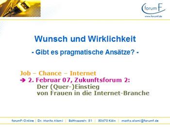 Alami Vortrag: Frauen in der Internet-Branche, 2007