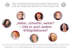 08.03.2016: Vorbildunternehmerinnen Köln